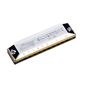 Huang - (103) blues harp slv hamonica 10 holes/20 toner