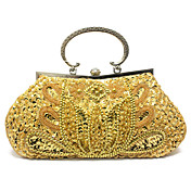 Gorgeous Satin with Crystal Evening Handbag/Clutches(More Colors)