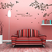 Rami degli alberi e uccelli Wall Stickers