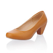 Leatherette Chunky Heel Stengt Toe Party / Evening Sko (Flere farger)
