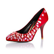 Elegant Satin Stiletto Heel Pumps With Crystal Party / Evening Shoes