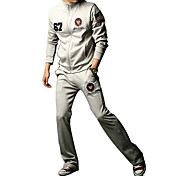 Men's Cheap Pure Color Cotton Leisure Sports Suit(Assorted Colors And Sizes)
