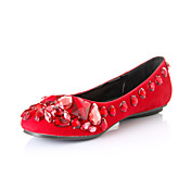 Fashion Leatherette Flat Heel Flats With Bowknot Party / Evening Shoes