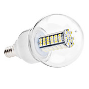 E14 6W 120x3528 SMD 480-500LM 6000-6500K Natural White Light LED Ball Bulb (110V/220V)