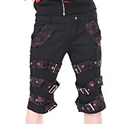 Red Cobweb Pattern Cotton Gothic Lolita Pants