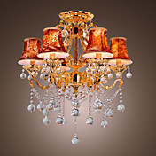 OZAUKEE - Lustre Cristal - 6 slots  ampoule