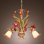 Lámpara Chandelier Floral con 3 Bombillas - SHOTTON-HAWARDEN