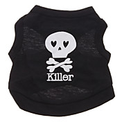 Lovely Killer Skull Pattern Vest for Dogs (Black,XS-L)