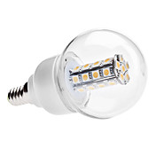 E14 6W 30x5050 SMD 420-450LM 3000-3500K Warm White Light LED Ball Bulb (85-265V)