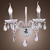 Modern Crystal Wall Lights with 2 Lights Candle Feautured