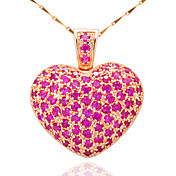 Lovely Alloy Plating 23K Gold With Cubic Zirconia Women's Necklace