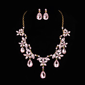 Elegant Alloy With Cubic Zirconia Women's Jewelry Set Including Necklace,Earrings