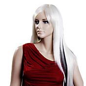 Capless Long Whithe High Quality Synthetic Hair Wigs