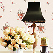 Country Style Floral PVC Wall Paper 1301-0002