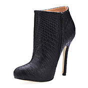 Leatherette Stiletto Heel Ankle Boots With Zipper Party / Evening Shoes