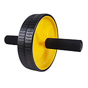 Black Steel Axle and PVC Double Wheels for Fitness