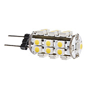 G4 1.5W 25x3528 SMD 120-140LM 3000-3500K Warm White Light LED Corn Bulb (12V)