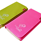 Long Type Modern Passport Card Polyester Case for Travel(Assorted Colors)