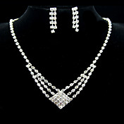 Amazing Alloy With Rhinestone Women's Jewelry Set Including Necklace,Earrings