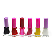 Regular Color Brillante Esmalte de uñas No.7-12 (4 ml, 6PCS)