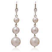Fabulous Alloy Round Three Pearls Øreringe