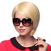 Capless Short Straight 100% Human Hair Parykker