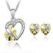 Gorgeous Alloy With Crystal / Rhinestone Women's Jewelry Set Including Necklace,Earrings(More Colors)