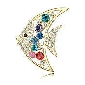 Beautiful Alloy With Rhinestones / Crystal Brooch (More Colors)