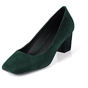 Moda Camurça Heel Pumps Chunky partido / Evening Shoes (mais cores)