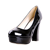 Patent lr Chunky Heel Pumps Parti / Evening Sko (Flere farger)