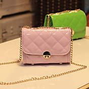 Women's Fashion Sweet Candy Color Diamond Lattice Crossbody Bag