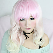 Lolita Wig Inspired by Lovely Vicky Zipper White and Pink Mixed 55cm Cosplay