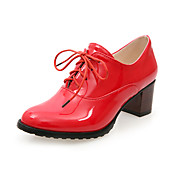Patent Leather Chunky Heel Lace-ups med blonder-up Party / Evening Sko (Flere farver)
