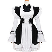 Long Sleeve Short White Cotton Classic Lolita Dress
