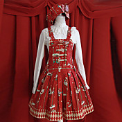 Amusement Park Sleeveless Short Red Cotton Sweet Lolita Dress