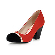 Pretty Leatherette Chunky Heel Pumps Parti / Evening Sko (Flere farger)