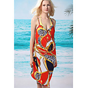 Damemode Modern Multi-Color Swimming Dress (Længde: 150cm, Bredde: 105cm)