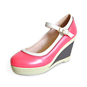 Leatherette Wedge Heel Wedges With Buckle Party / Evening Shoes (More Colors)