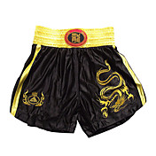 Kick Boxing Bordado Profissional Shorts Golden Dragon & Black
