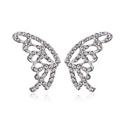 Charming Butterfly Cut Alloy Crystal Stud Earrings(More Colors)