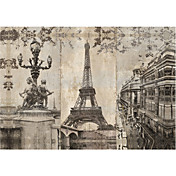 Printed Art Landscape Paris City by Pela + Silverman