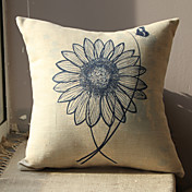 Sunflower Pattern Print Decorative Pillow Cover