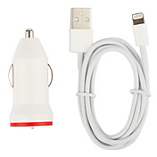 Cigarette Car Charger mit 100cm Blitz-Kabel für iPhone 5, iPod (DC12-24V, 1A)