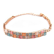 Pretty 18K Gold plated with Opal Women's Fashion Bracelets