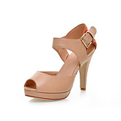 Leatherette Stiletto Heel Sandals With Split Joint Office / Party / Evening Shoes (More Colors)
