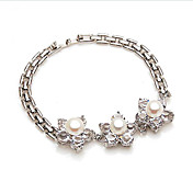 Lovable Alloy With Cubic Zirconia / Imitation Pearl Women's Bracelets