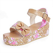 Leatherette Platform Heel Sandals With Flower / Buckle Party / Evening Shoes (More Colors)