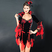 Gorgeous Black and White Wicked Queen Dress Vampira Costume