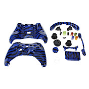 Vervanging Wired Controller Case Shell voor XBOX 360 (Blue Tiger)