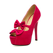 Suede Stiletto Heel Peep Toe With Bowknot Party / Evening Shoes (More Colors)